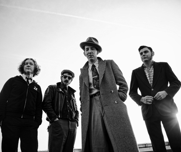 "Courtesy of Paul Nordmann. Pokey LaFarge and the South City Three, in a shot from the cover of their latest album ""The Middle of Everything."""