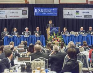 Conference: Distinguished business leaders discussed current trends in international business. / Courtesy of Steve Dolan