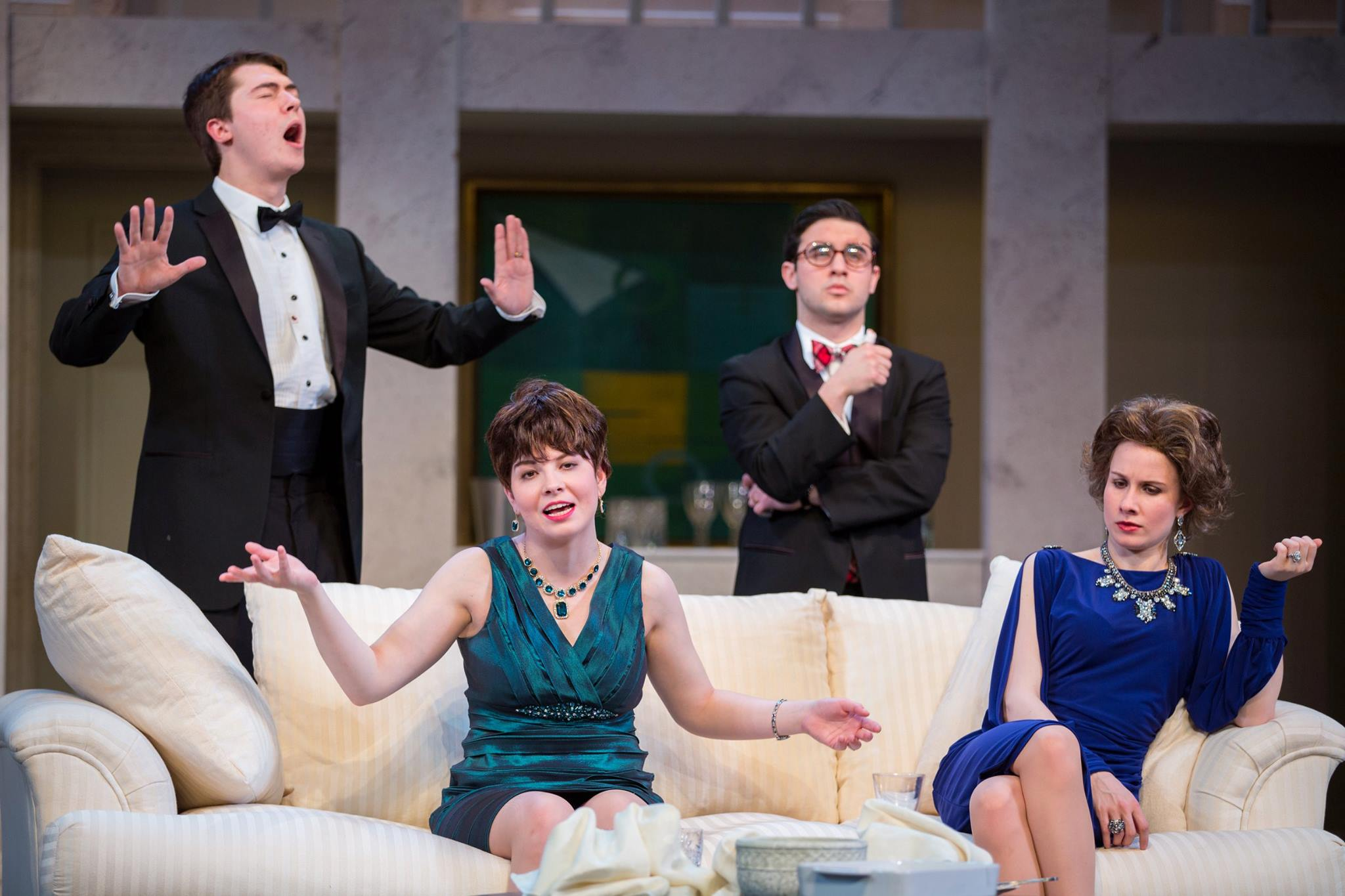 Lots of laughs for 'Rumors' on first night