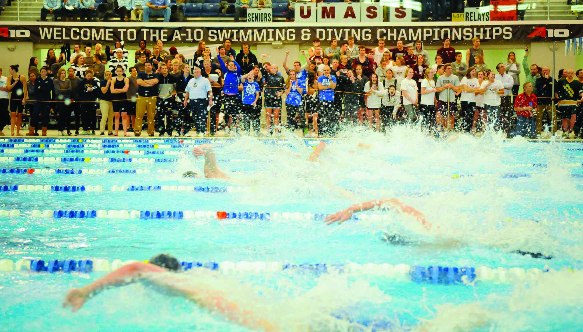A-10 meet for swimming