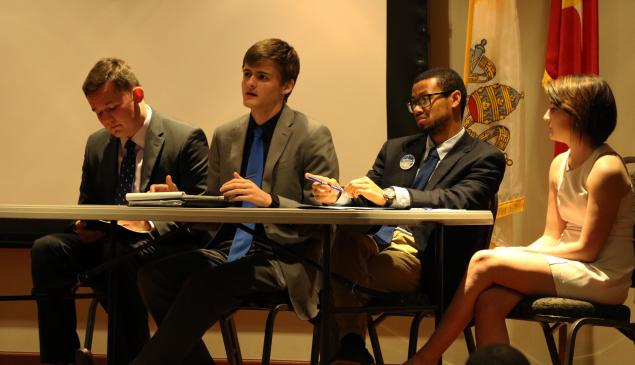 SGA presidential candidates battle it out